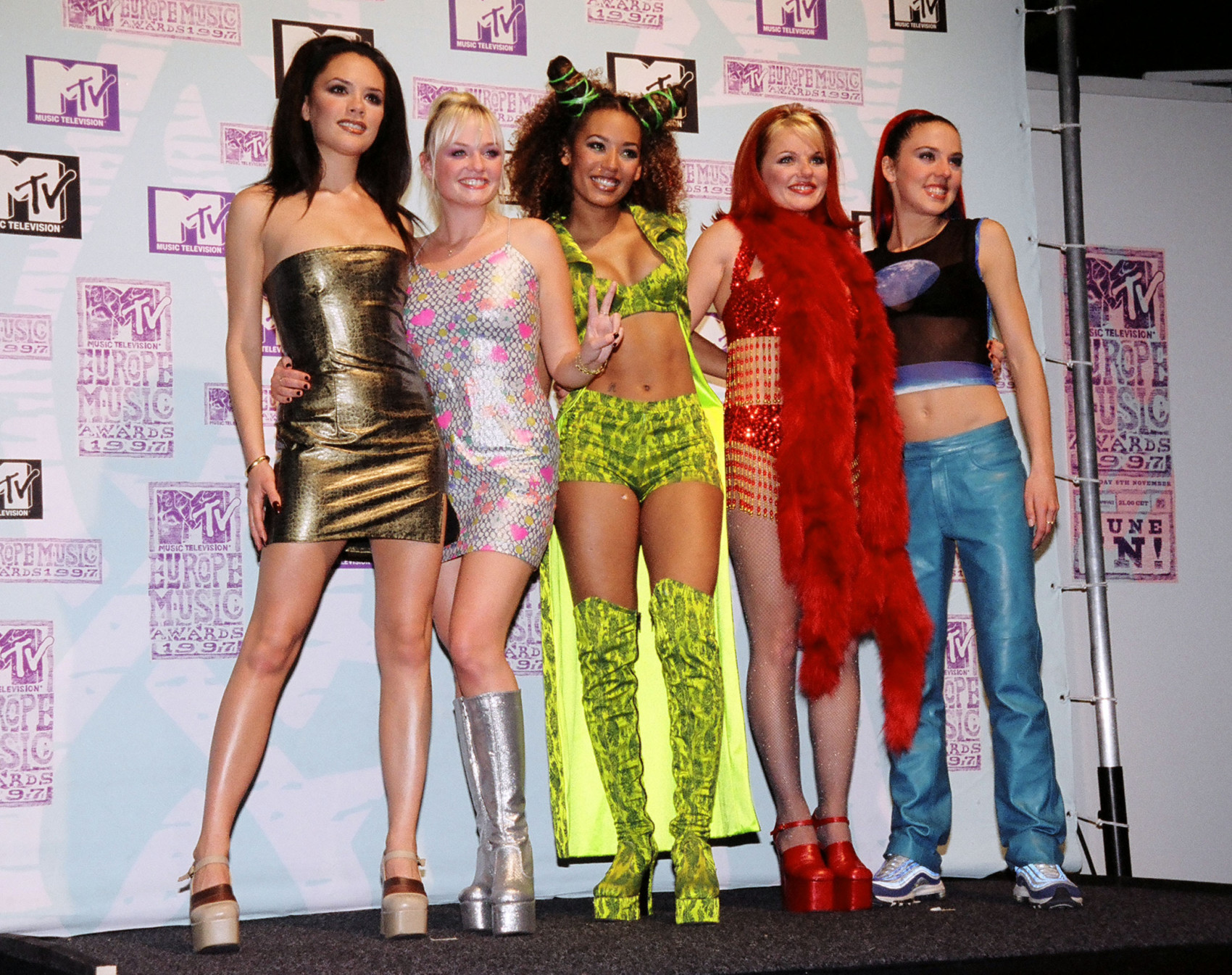 Victoria Beckham, Mel C, Emma Bunton, Geri Halliwell and Mel B from The Spice Girls (Photo by Jeff Kravitz/FilmMagic)