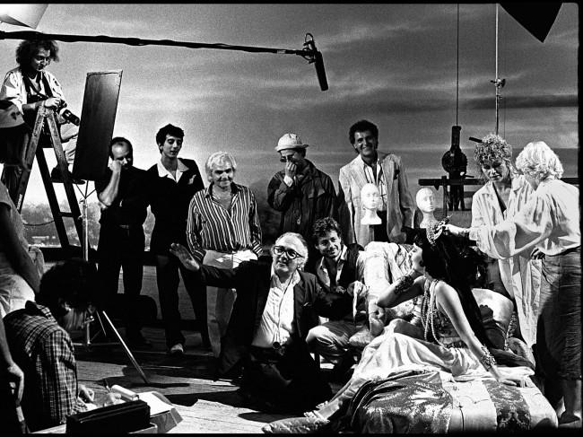 Emilio Lari- Fellini sul set di Intervista