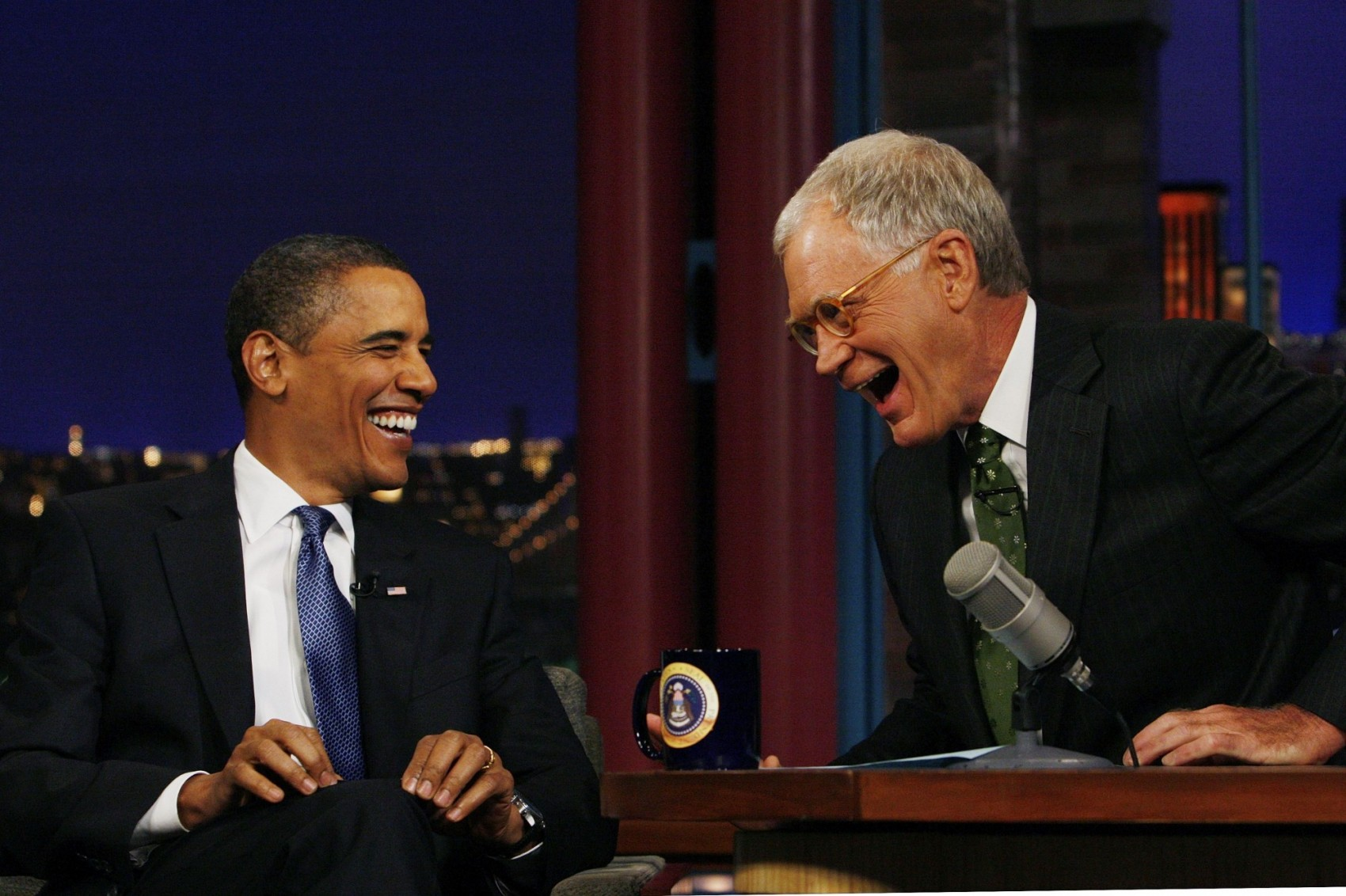 Image: Barack Obama, David Letterman
