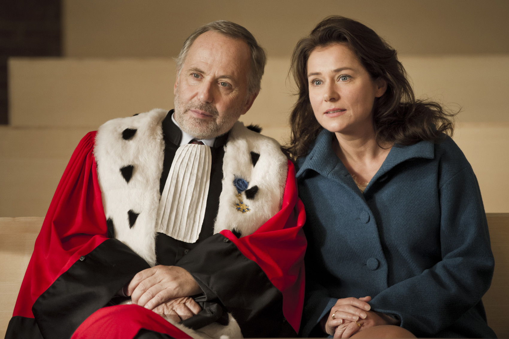 FABRICE LUCHINI and SIDSE BABETT KNUDSEN as RACINE and DITTE in the film COURTED. Photo Credit: JEROME PREBOIS