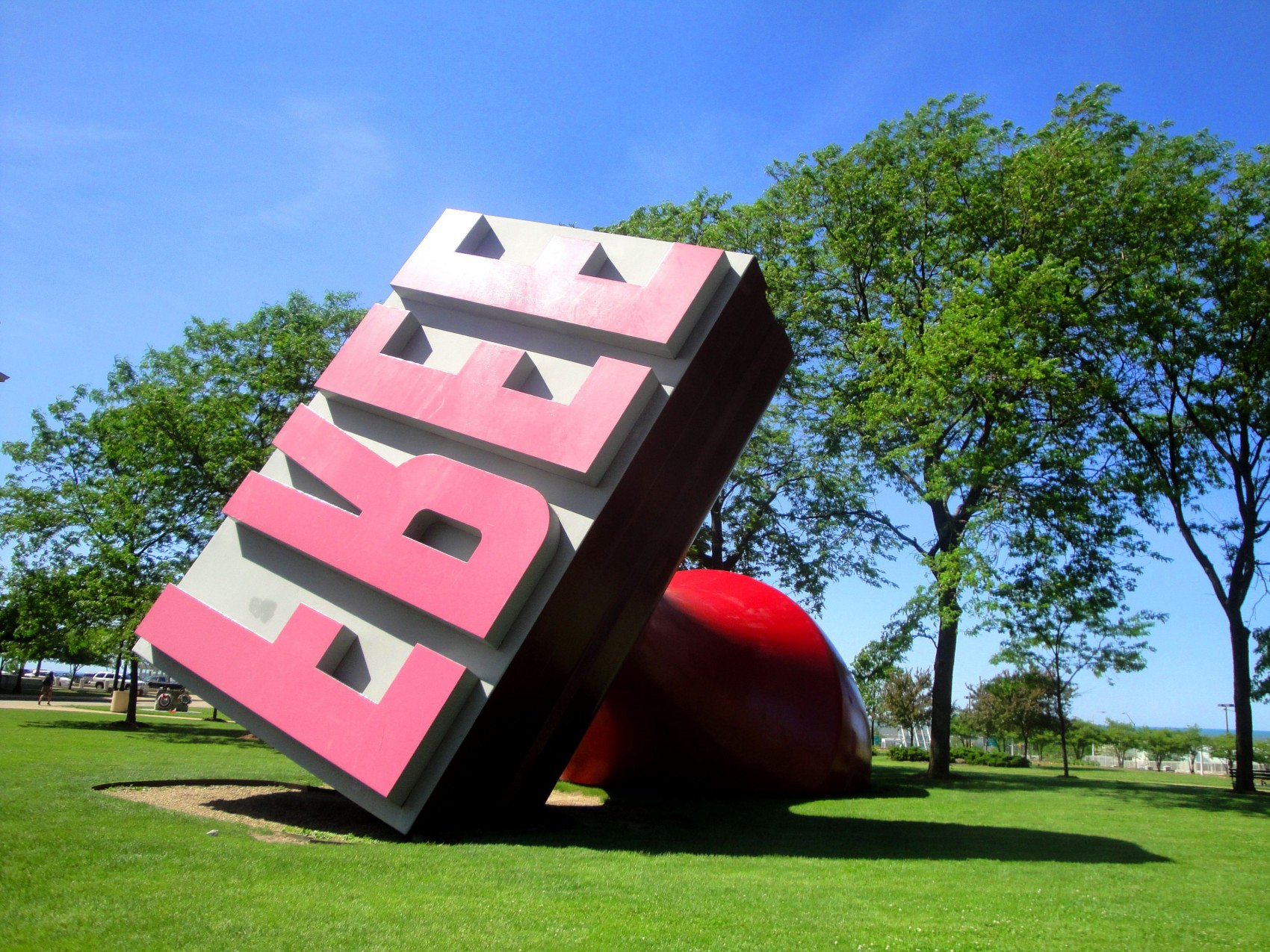 Claes Oldenburg & Coosje van Bruggen Free Stamp, Willard Park, Cleveland, US