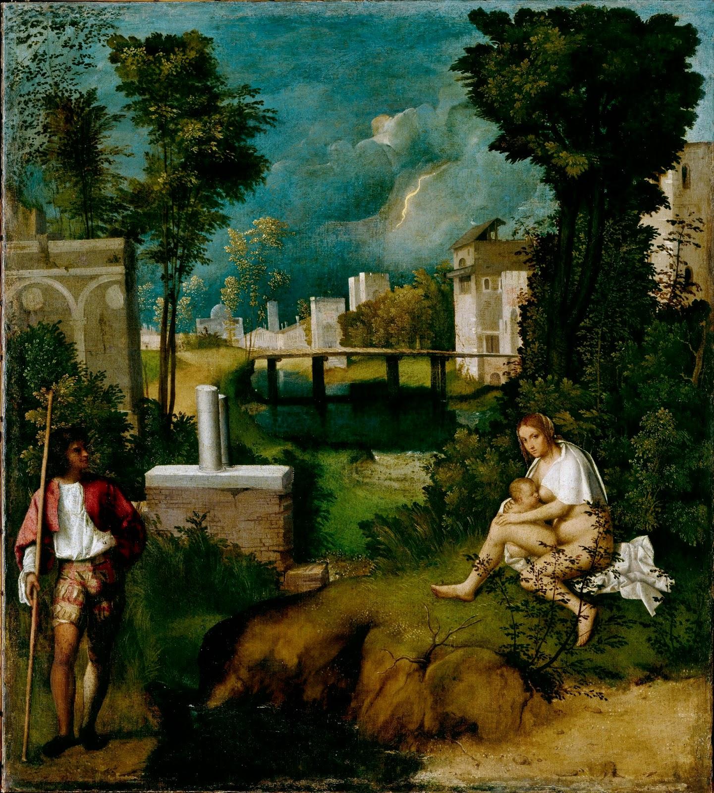 Giorgione, La tempesta, Gallerie dell'Accademia, Venezia