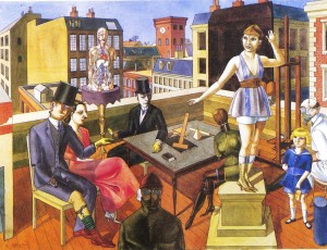 Rudolf Schlichter The rooftop studio, 1922 ®Galerie Nierendorf, Berlino
