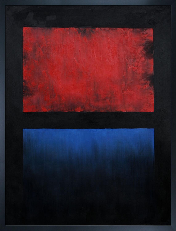 Mark Rothko No. 14 Red blue over black (1960)