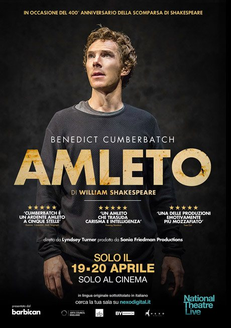 Locandina Amleto National Theatre Live Benedict Cumberbatch