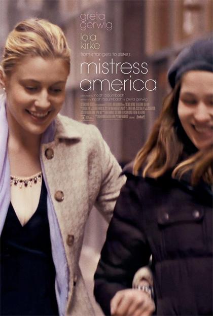 Mistress America Baumbach locandina Greta Gerwig
