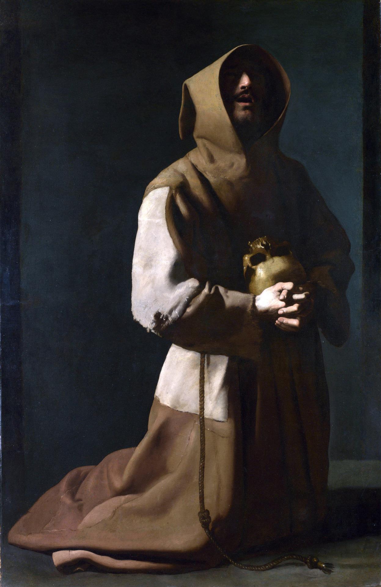 Francisco de Zurbaràn San Francesco in meditazione (1635-39), National Gallery, Londra