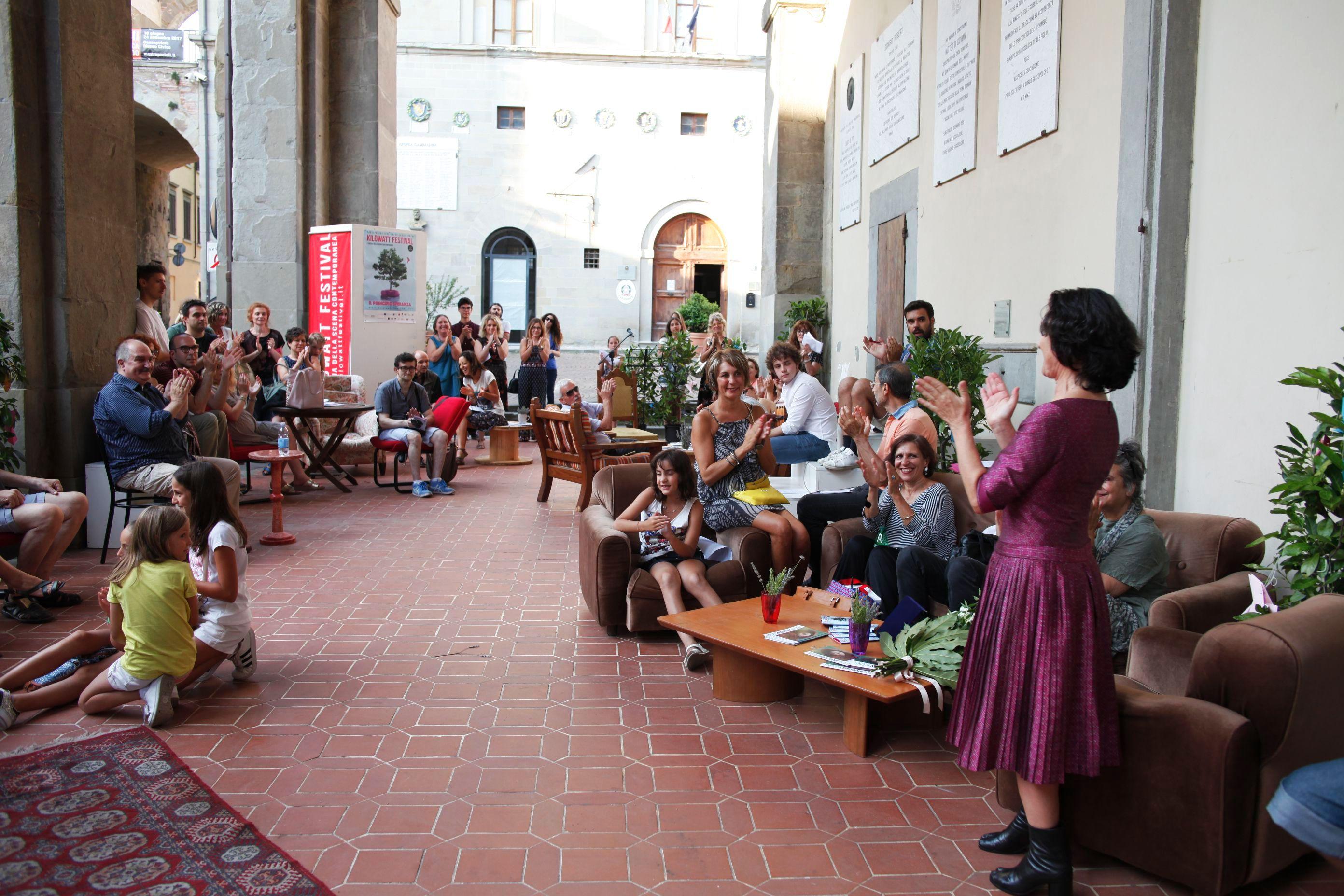 Lettura pubblica Miniature Campianesi: i cittadini di Sanspolcro per Ermanna Montanari. Foto ©Luca Del Pia
