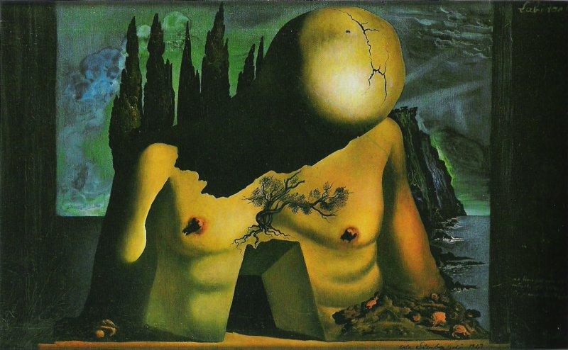 Salvador Dalí Bozzetto di fondale per per il balletto Labirinto (1941) ©Collezione Privata, Spagna