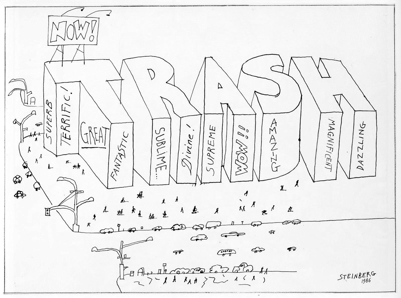 Saul Steinberg Trash (October 27, 1986) ©New Yorker