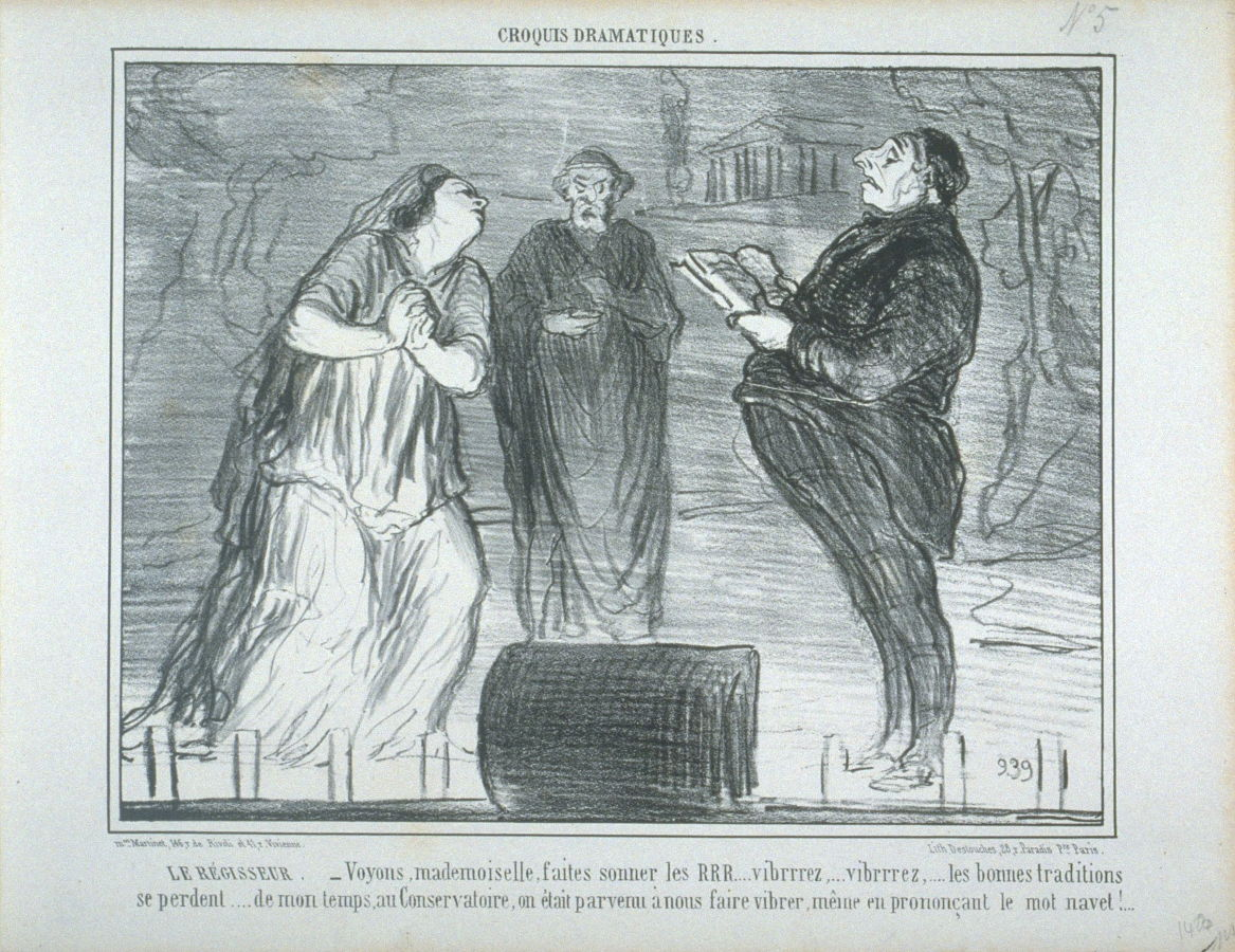 Honoré Daumier Le régisseur, no.5 dalla serie Croquis Dramatiques (1856) ©Bruno and Sadie Adriani Collection, FAMSF