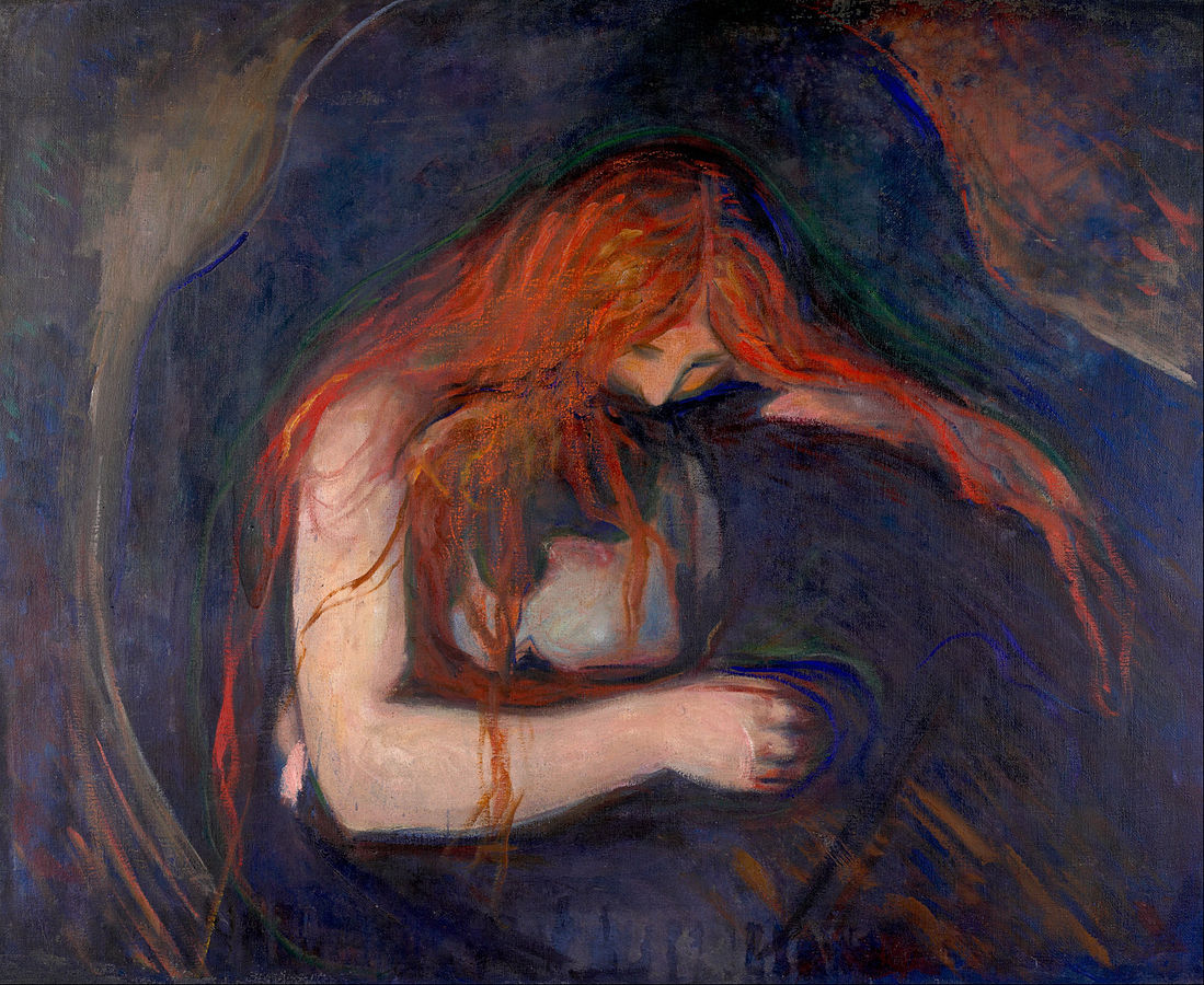 Edvard Munch Amore e dolore, o «Il vampiro» (1893-94) Munch Museet, Oslo
