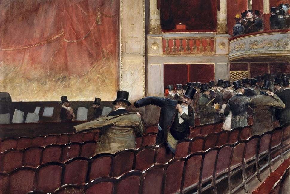 Jean Béraud La sortie de théâtre (1900-10 ca.)). Musée du Louvre, Parigi