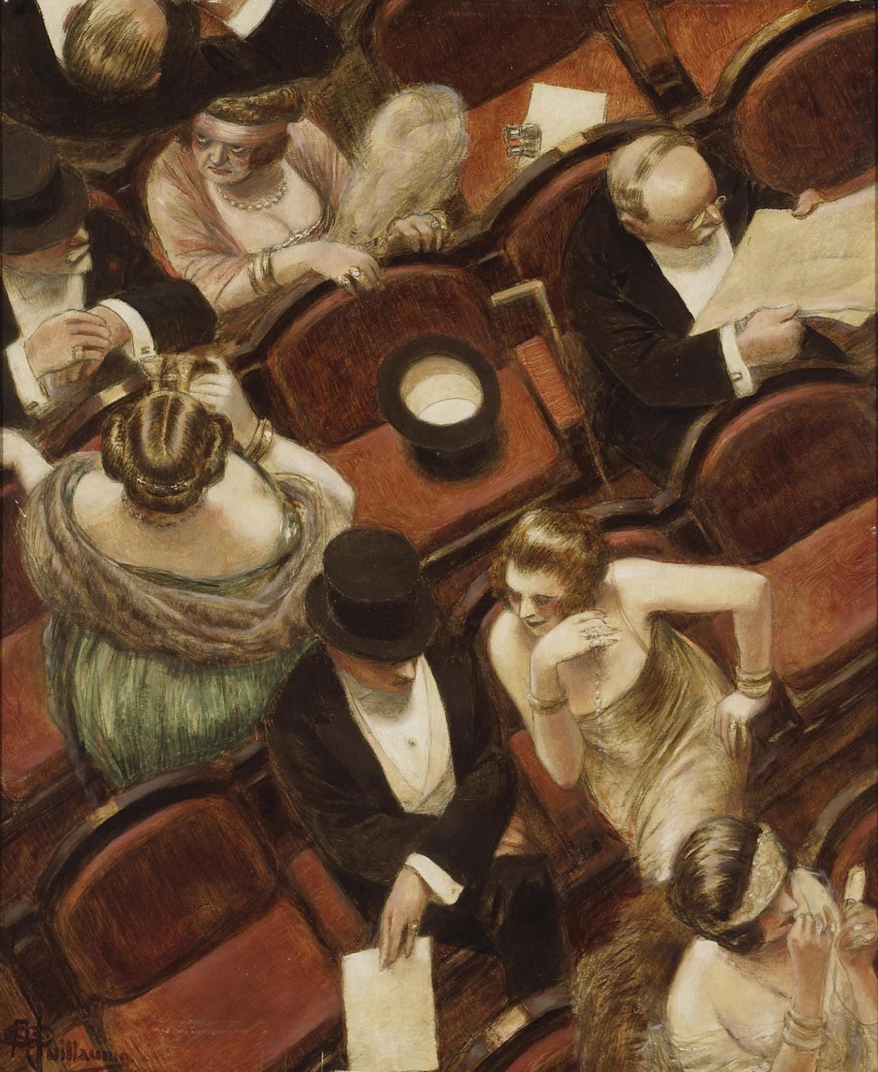 Albert Guillaume Au theatre (1920 ca.). Fonte ©Bonhams