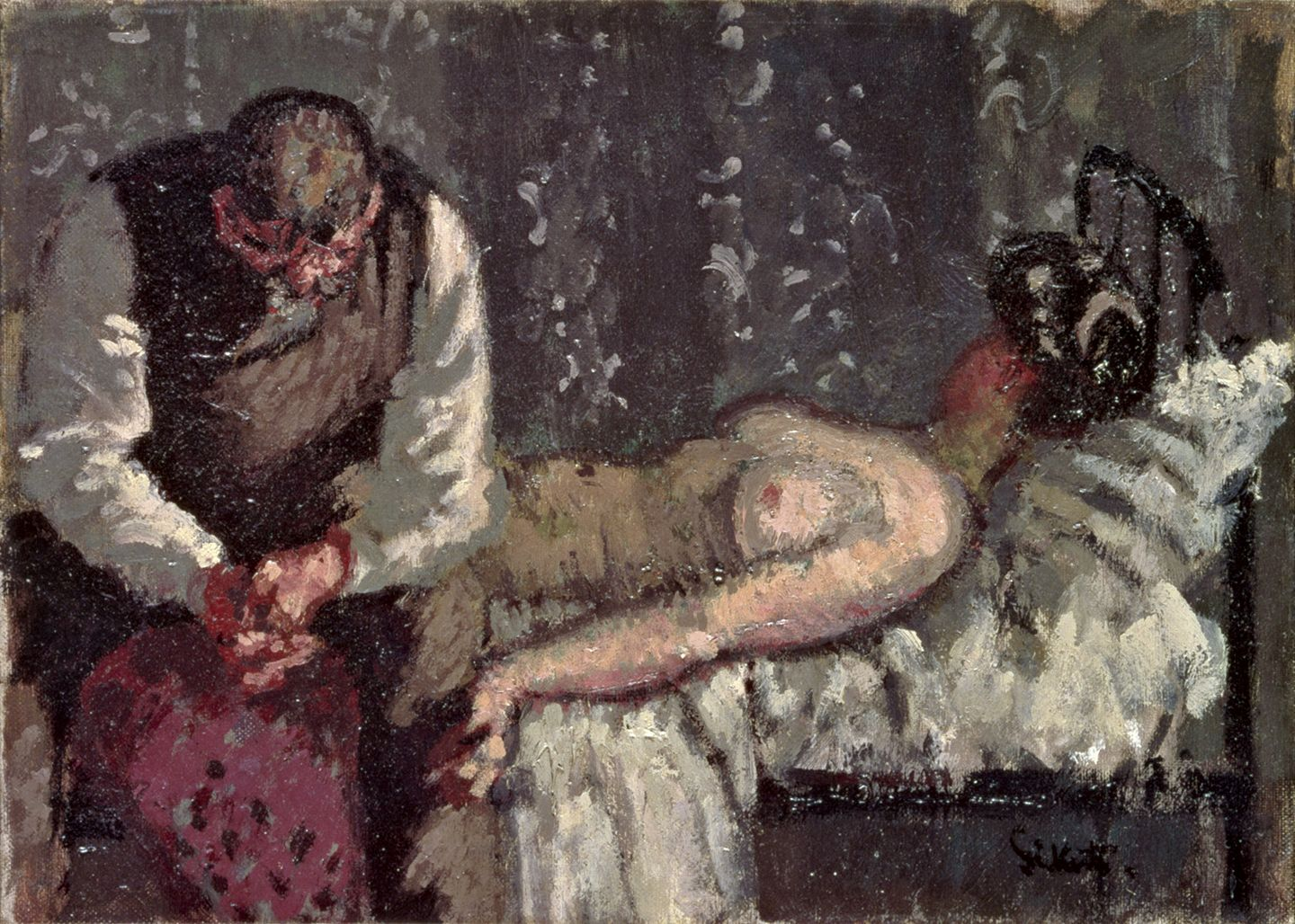 Walter Sickert The Camden Town Murder, or What Shall We Do For the Rent (1908). Yale Center for British Art (Paul Mellon Fund B1979.37.1), New Haven, Connecticut ©Estate of Walter R. Sickert / DACS