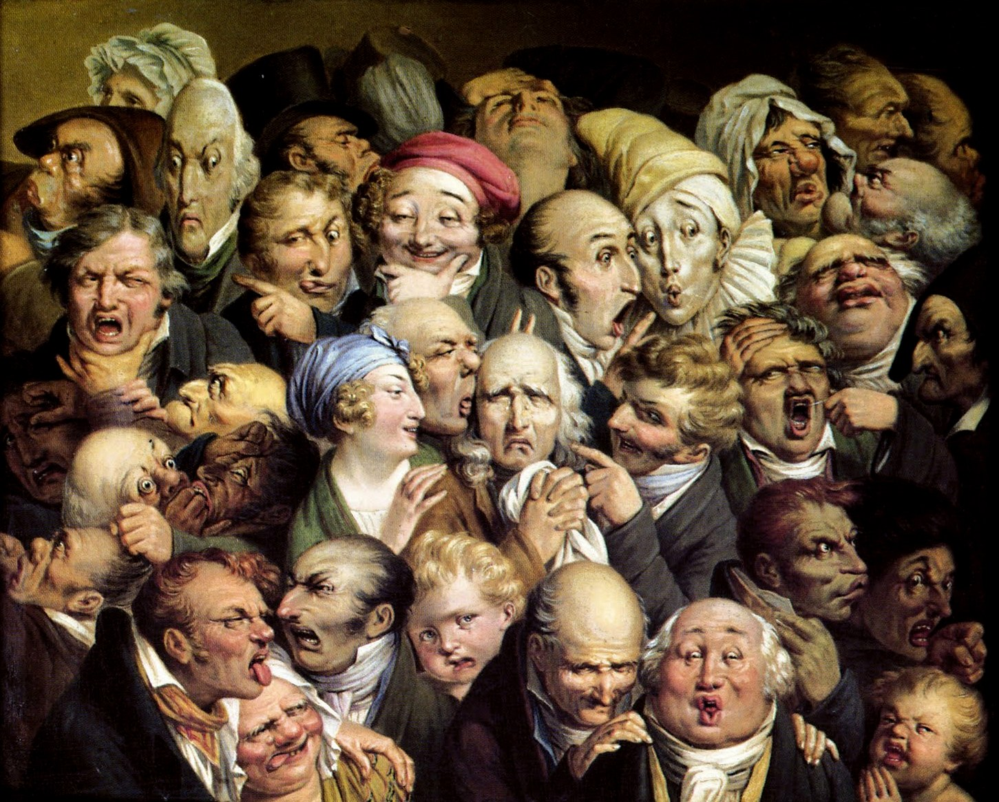 Louis-Leopold Boilly Reunion de 35 tetes diverses (1824 ca.). ©Collezione Privata Tropmi / Manuel Cohen