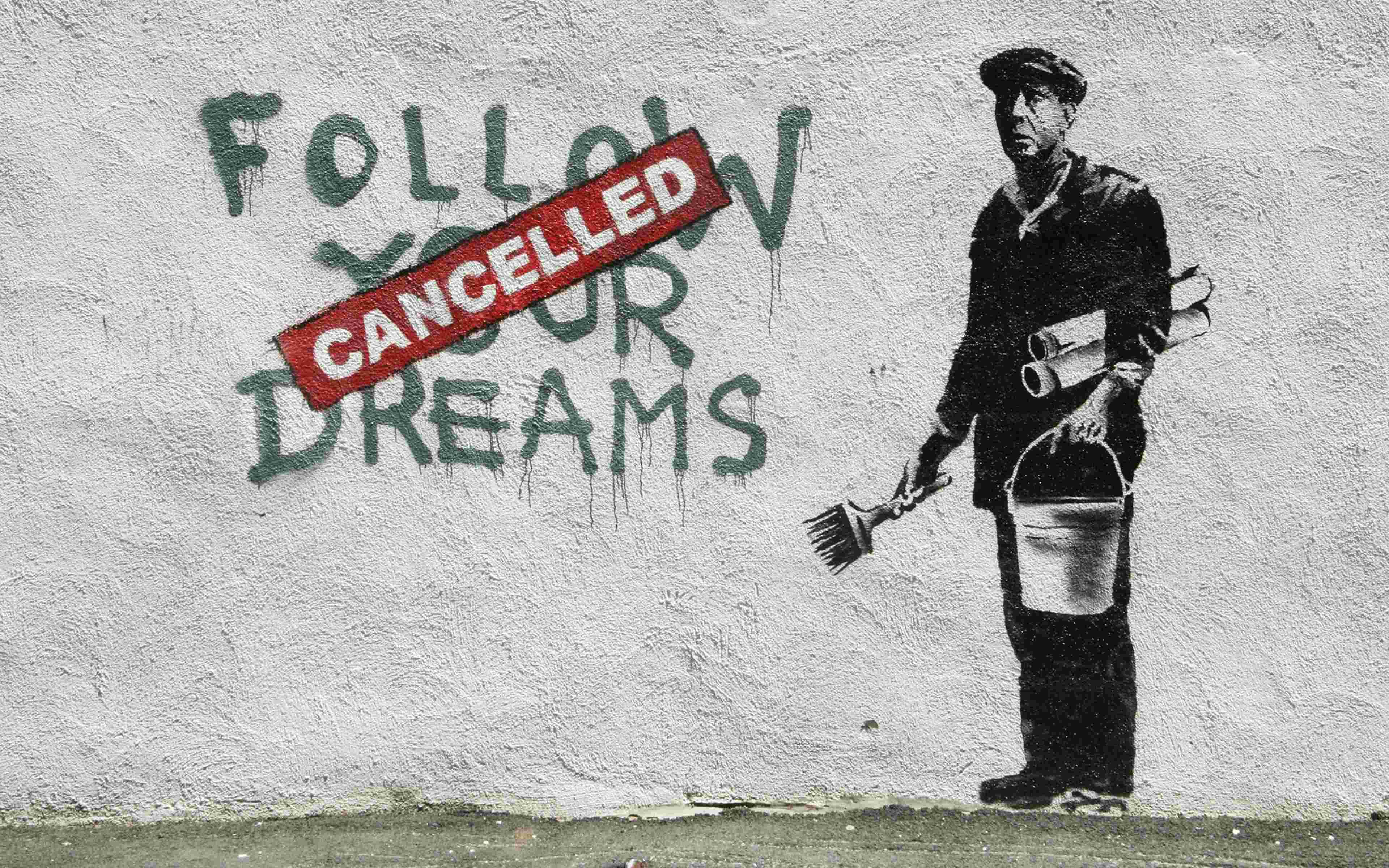 Banksy Follow your dreams (2010). Boston, Massachusetts