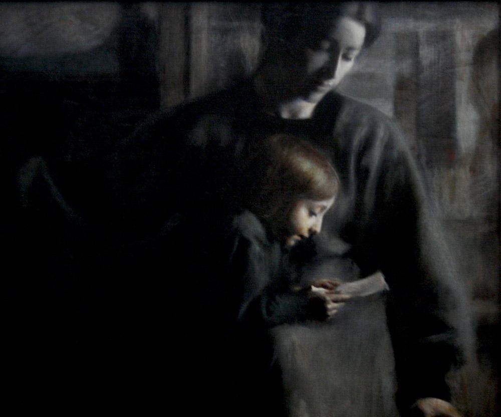 Giacomo Balla Affetti (1910). ©Galleria Nazionale d'Arte Moderna, Roma