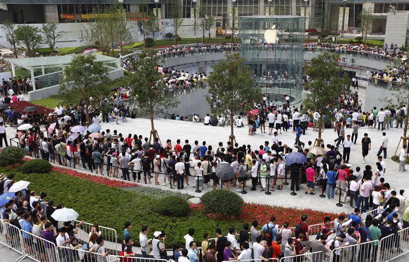 Apertura Apple Store a Shanghai. 10 luglio 2010