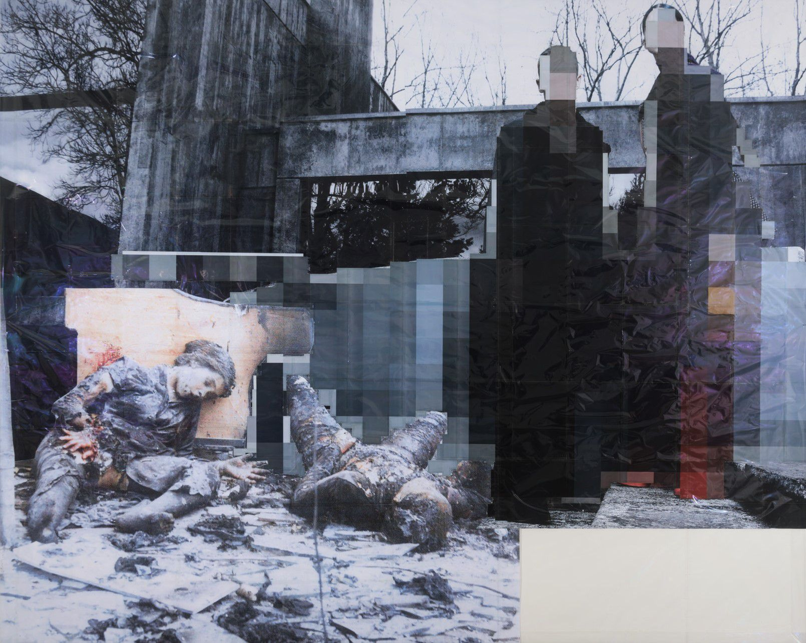 Thomas Hirschhorn Pixel-Collage n°10 (2015). Foto di Florian Kleinefenn. ©Thomas Hirschhorn || Galerie Chantal Crousel, Paris
