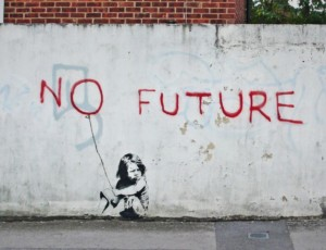 Banksy No future (2010). Southampton, UK
