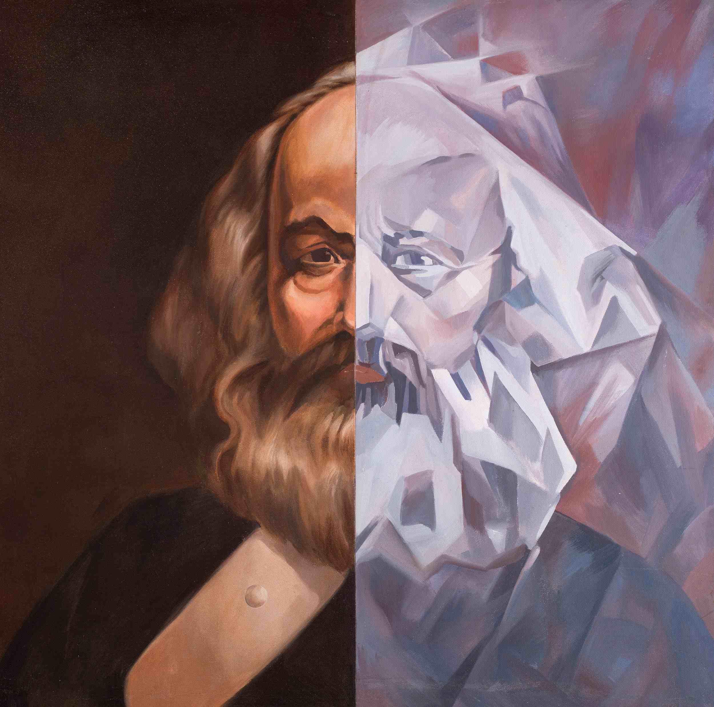 Komar & Melamid Dittico: Karl Marx. ©Collezione Privata.