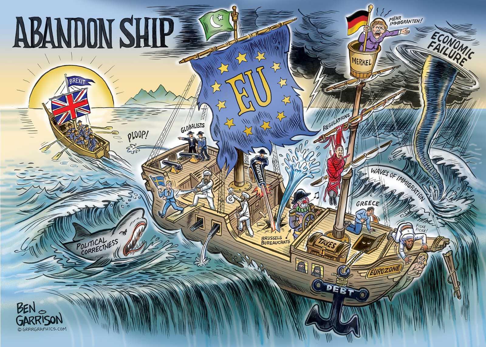 Ben Garrison Abandon Ship (2016). ©crrrgraphic.com