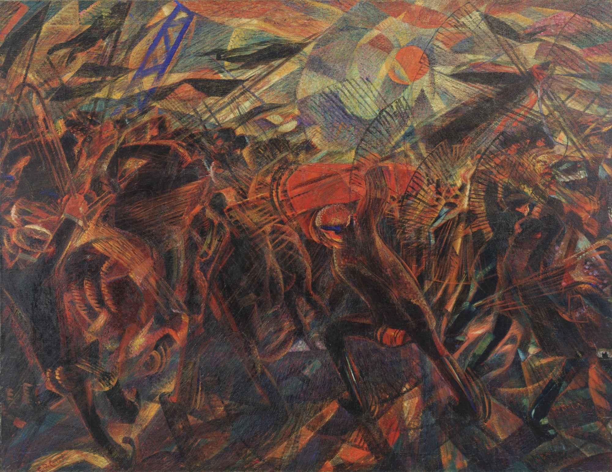 Carlo Carrà I funerali dell'anarchico Galli (1910-11). ©MoMA, New York