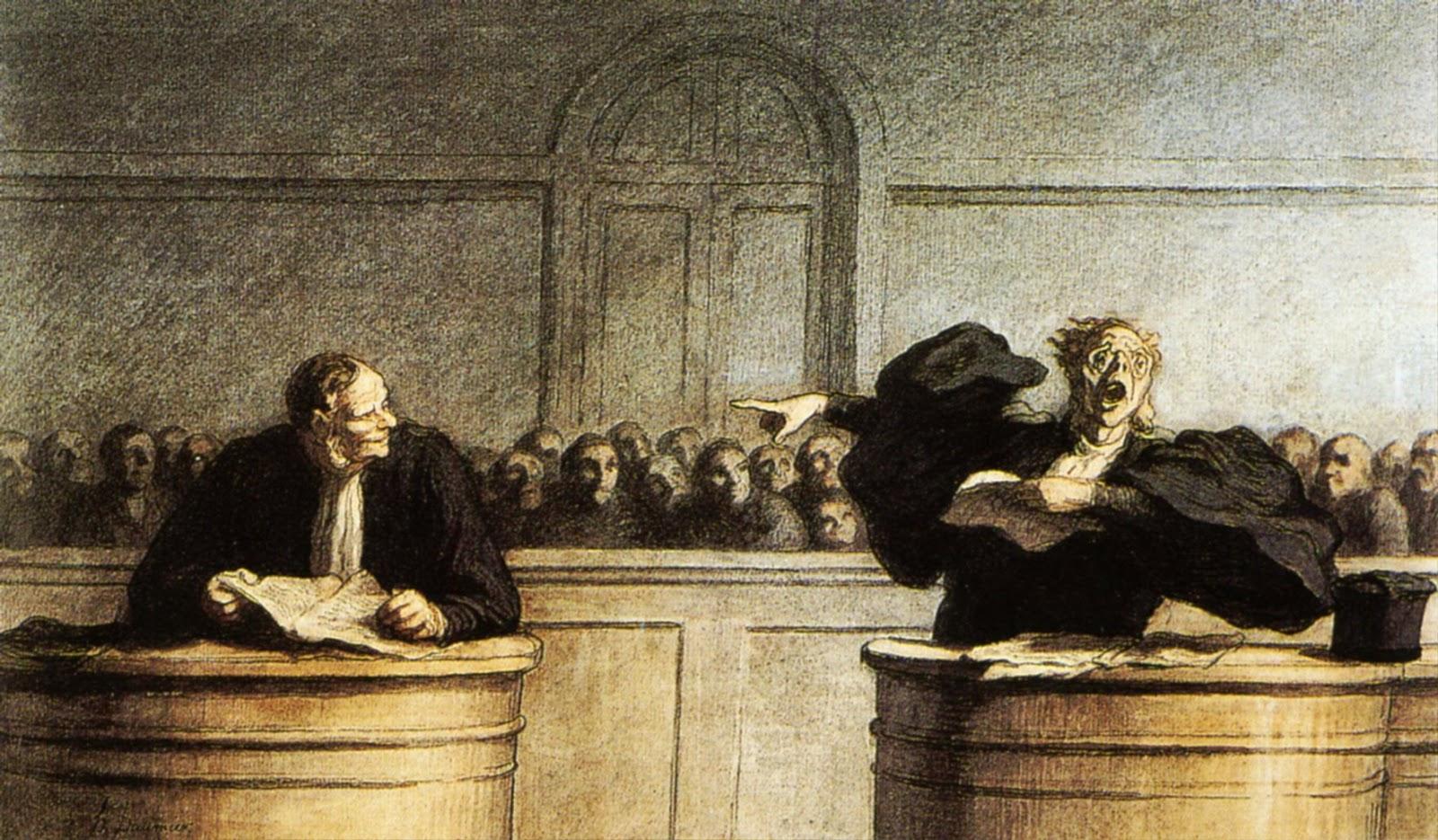 Honoré Daumier Une cause célèbre (18??)