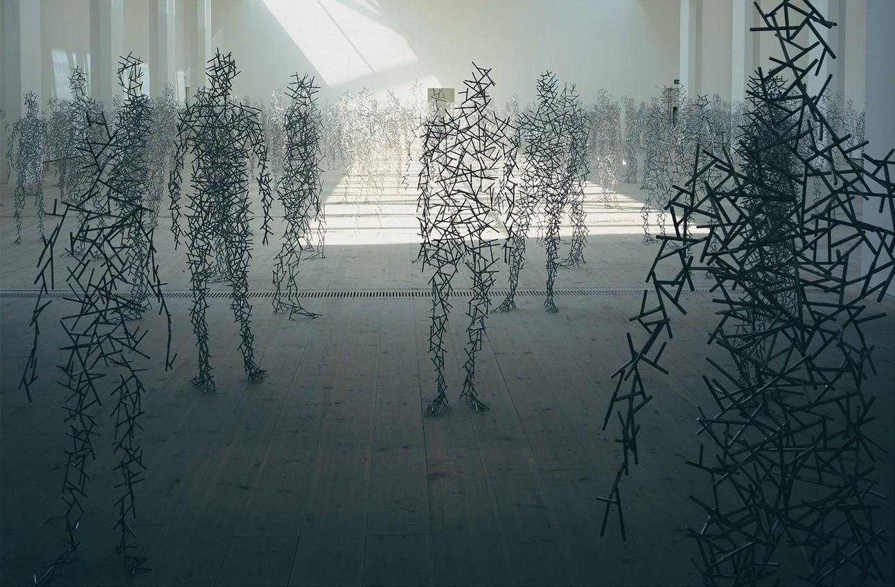 Anton Gormley Domain Field (2003). Baltic Center for contemporary Art, Gateshead, UK ©Gormley
