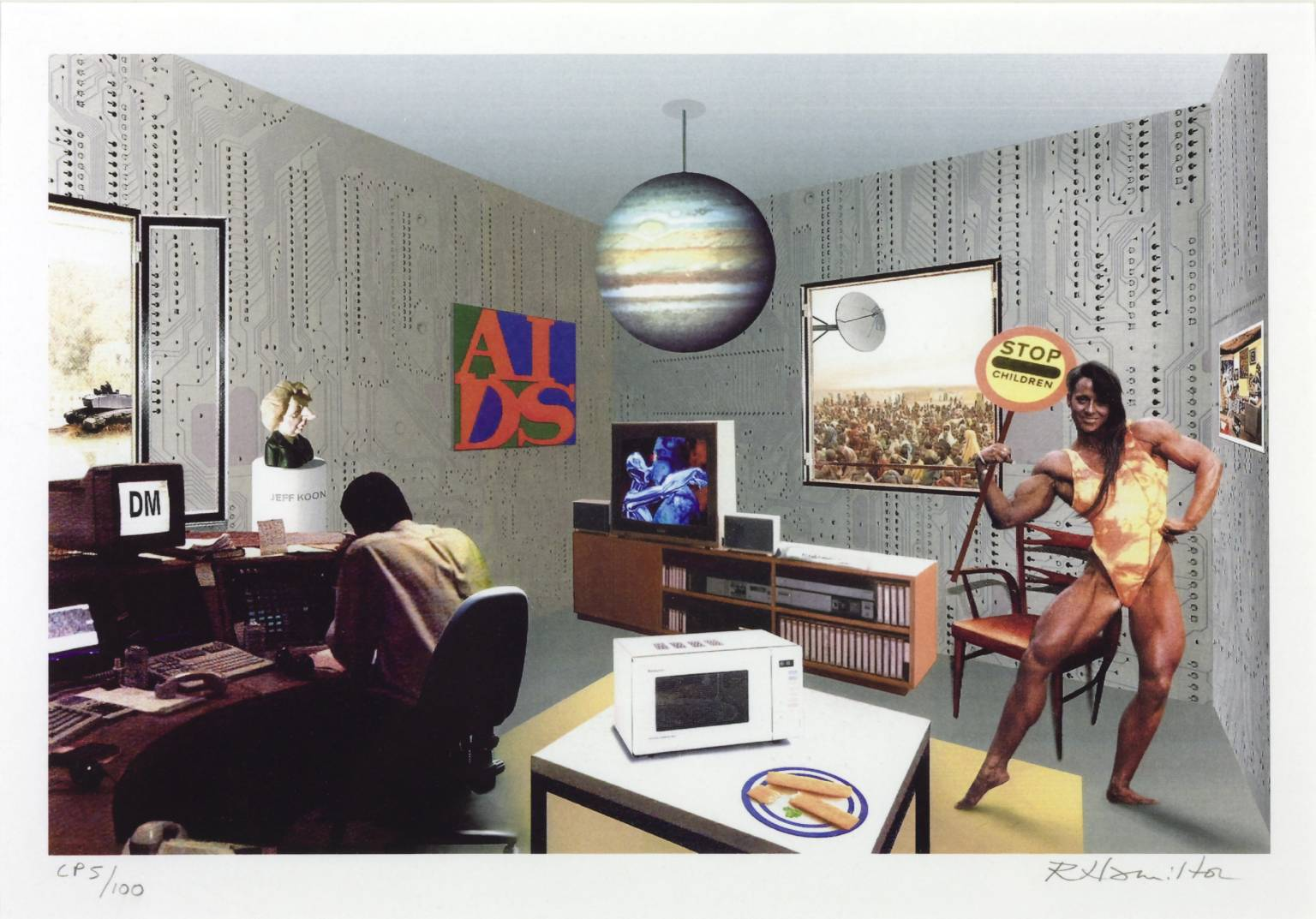 Richard Hamilton Just what is it that makes today's homes so different? (1992). ©Tate Gallery, Londra