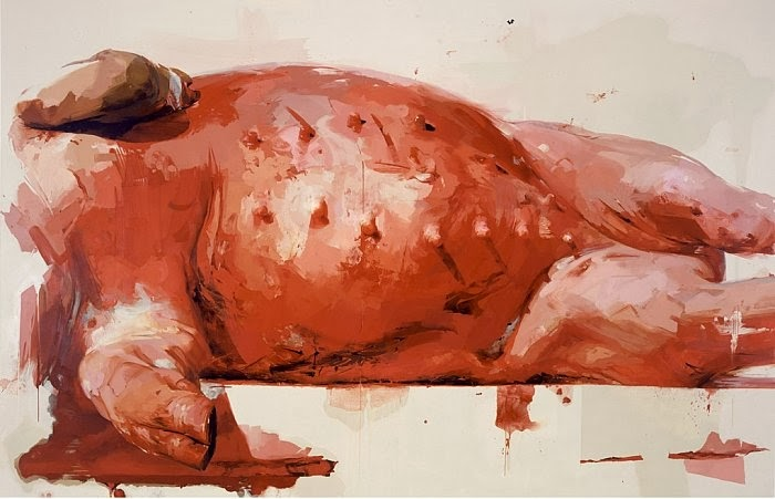 Jenny Saville Suspension (2002-03) © Courtesy of the artist & Gagosian Gallery