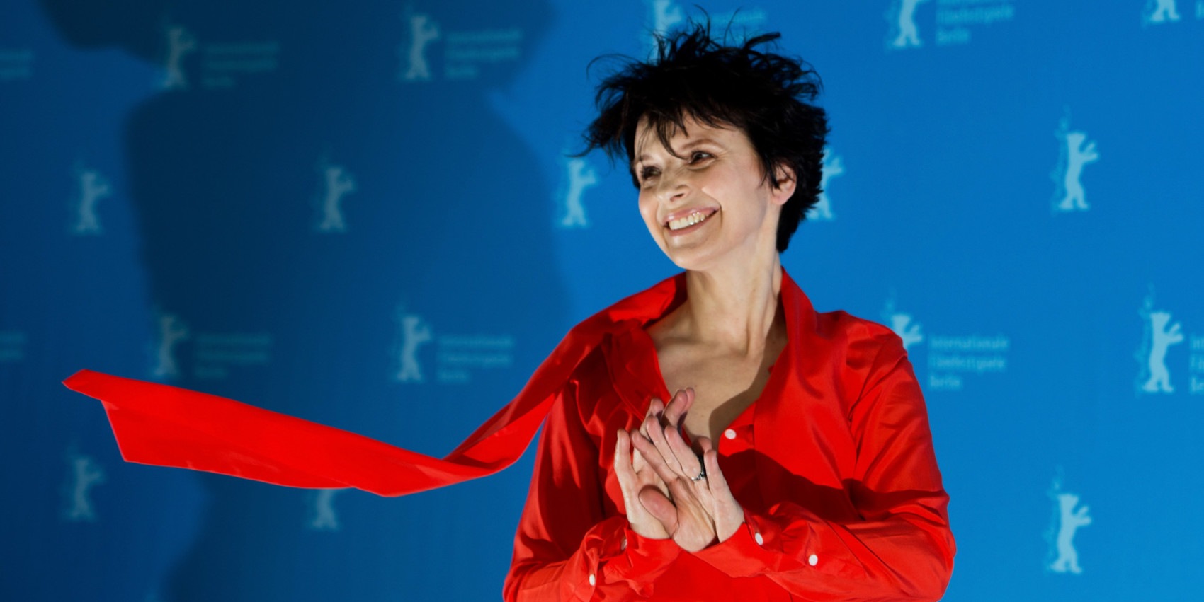 "(FILES) In this file photo taken on February 12, 2013 French actress Juliette Binoche poses during a photocall for the premiere of the film ""Camille Claudel 1915"" presented in the Berlinale Competition of the 63rd Berlin International Film Festival in Berlin. - Juliette Binoche, one of France's most recognised actresses and Oscar winner has been nominated as president of the International Jury at the 69th Berlin International Film Festival, organisers said on December 11, 2018. (Photo by Johannes EISELE / AFP)"