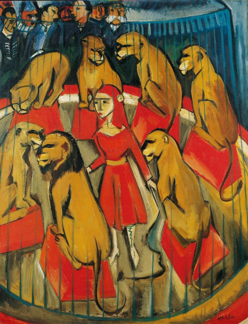 Max Pechstein Die Löwenbändigerin (1920).
