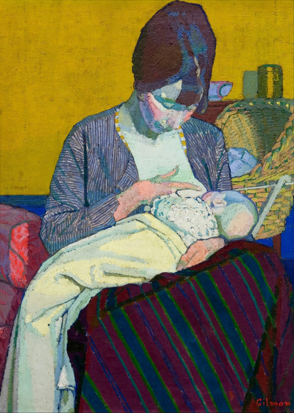 Harold Gilman Mother and Child (1918).