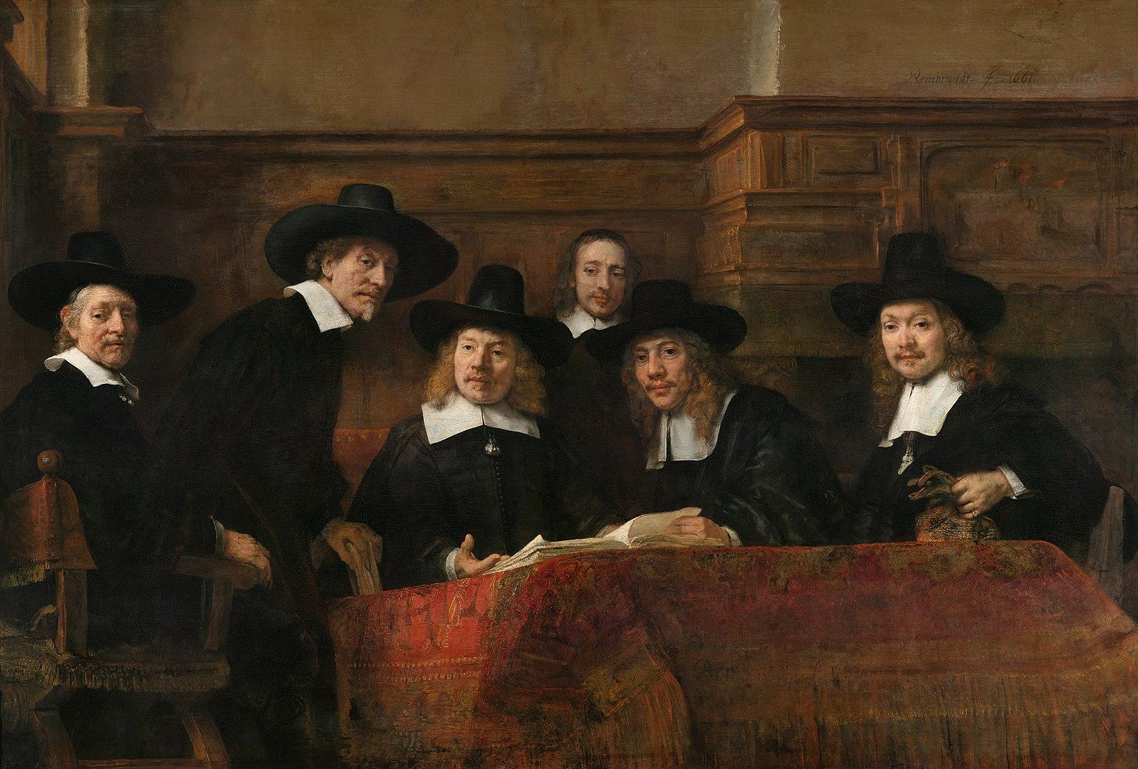 Rembrandt De Staalmeesters (1662)