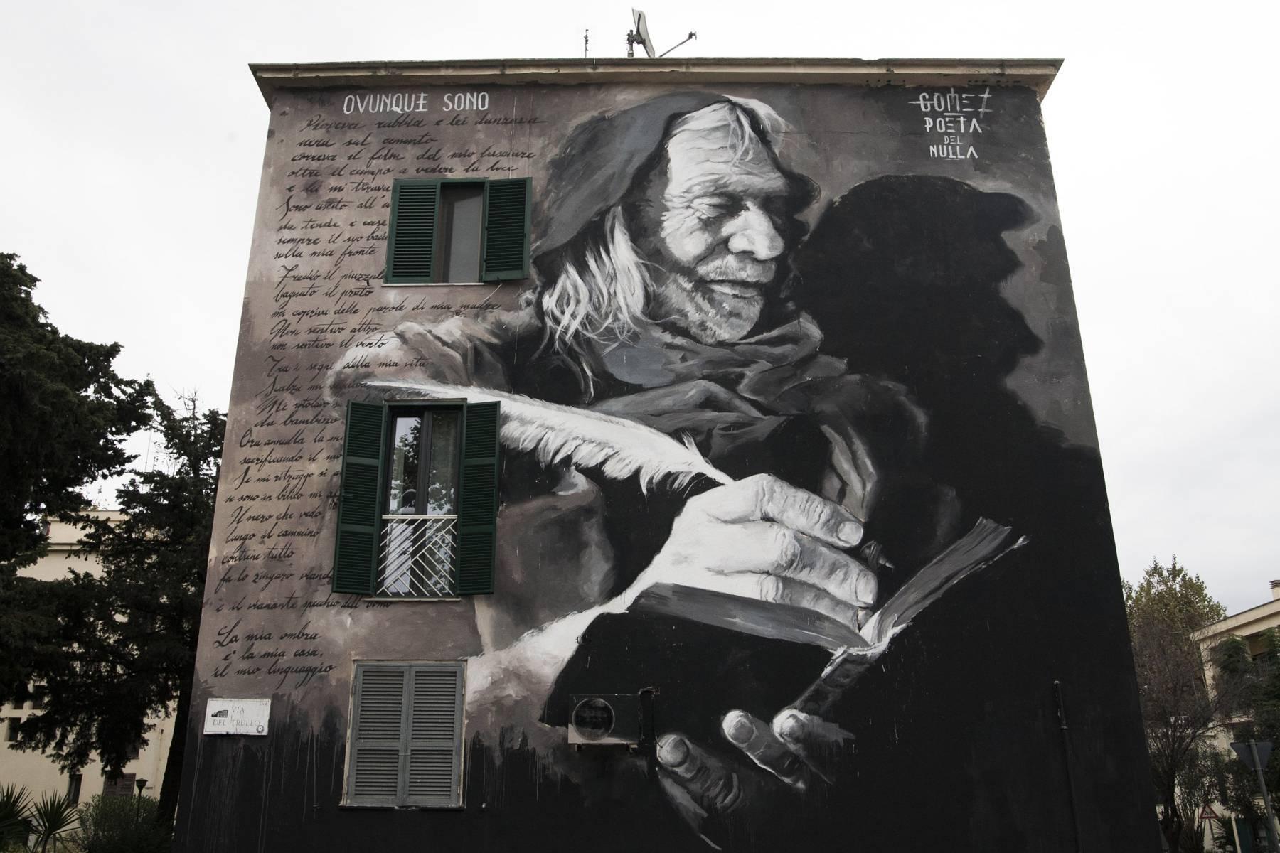 Gomez e Poeta del Nulla (2015. Trullo, Roma. Ph. ©ArtTribune