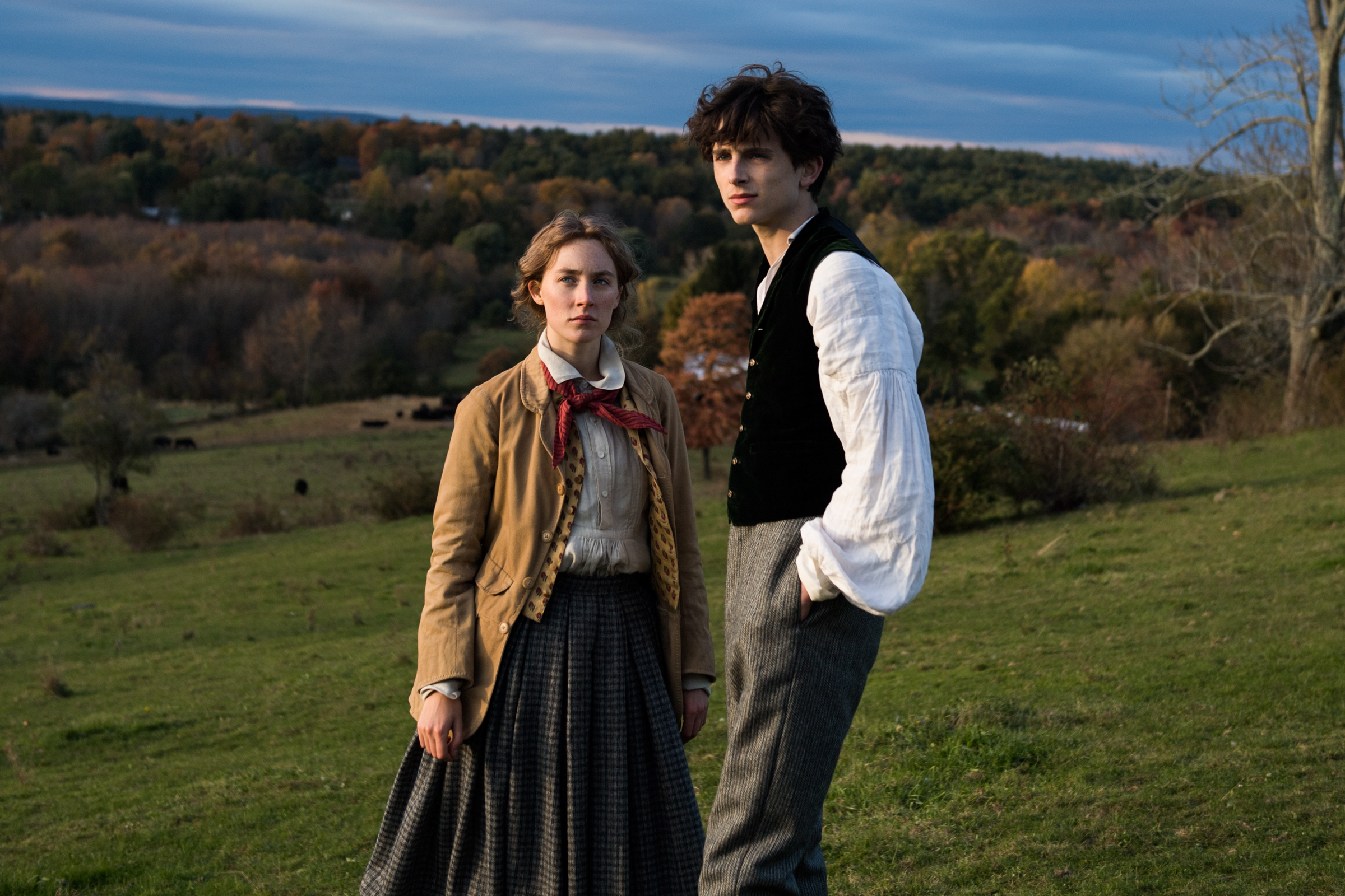 Saoirse Ronan and Timothée Chalamet in Greta Gerwig' LITTLE WOMEN.